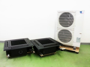 三菱 天カセ 6馬力 パッケージエアコン スリムER 4方向天井カセット形 ブラック